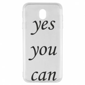 Etui na Samsung J7 2017 Napis: Yes you can