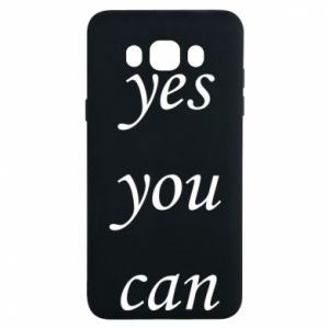 Etui na Samsung J7 2016 Napis: Yes you can