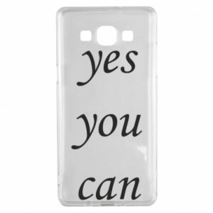 Etui na Samsung A5 2015 Napis: Yes you can