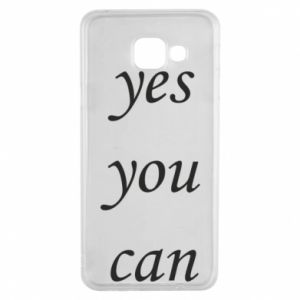 Etui na Samsung A3 2016 Napis: Yes you can