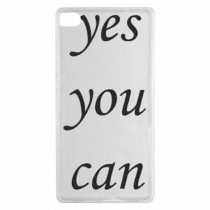 Etui na Huawei P8 Napis: Yes you can