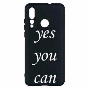 Etui na Huawei Nova 4 Napis: Yes you can