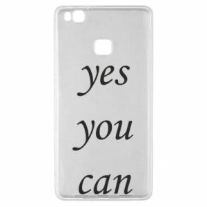 Etui na Huawei P9 Lite Napis: Yes you can