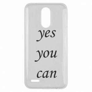 Etui na Lg K10 2017 Napis: Yes you can