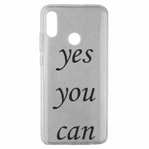 Etui na Huawei Honor 10 Lite Napis: Yes you can