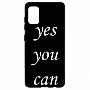 Etui na Samsung A41 Napis: Yes you can