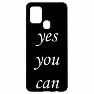 Etui na Samsung A21s Napis: Yes you can