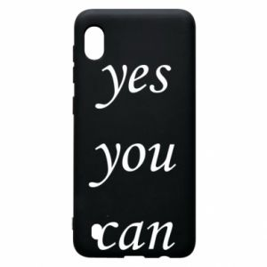 Etui na Samsung A10 Napis: Yes you can