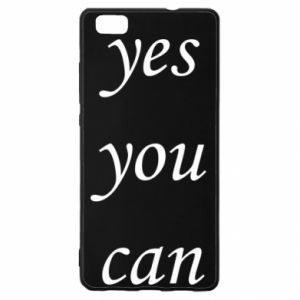 Etui na Huawei P 8 Lite Napis: Yes you can