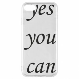 Etui na iPhone SE 2020 Napis: Yes you can