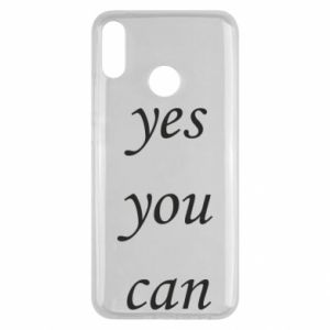 Etui na Huawei Y9 2019 Napis: Yes you can