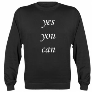 Bluza (raglan) Napis: Yes you can