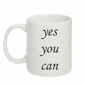 Kubek 330ml Napis: Yes you can