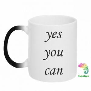 Kubek-kameleon Napis: Yes you can