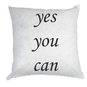 Poduszka Napis: Yes you can