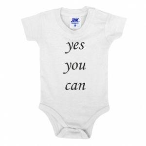 Body dla dzieci Napis: Yes you can