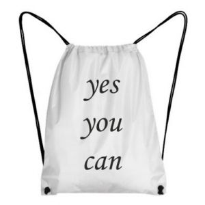 Plecak-worek Napis: Yes you can