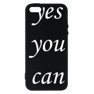 Etui na iPhone 5/5S/SE Napis: Yes you can