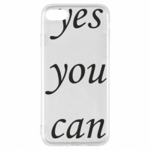 Etui na iPhone 7 Napis: Yes you can