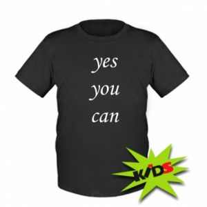 Dziecięcy T-shirt Napis: Yes you can