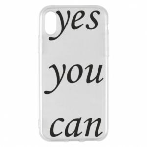 Etui na iPhone X/Xs Napis: Yes you can