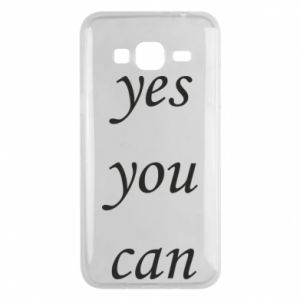 Etui na Samsung J3 2016 Napis: Yes you can