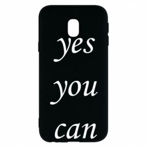 Etui na Samsung J3 2017 Napis: Yes you can
