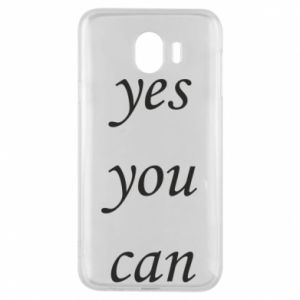 Etui na Samsung J4 Napis: Yes you can