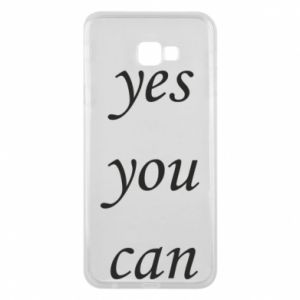 Etui na Samsung J4 Plus 2018 Napis: Yes you can