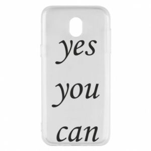 Etui na Samsung J5 2017 Napis: Yes you can