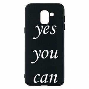 Etui na Samsung J6 Napis: Yes you can