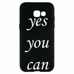Etui na Samsung A5 2017 Napis: Yes you can