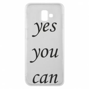 Etui na Samsung J6 Plus 2018 Napis: Yes you can
