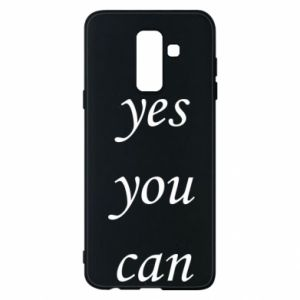 Etui na Samsung A6+ 2018 Napis: Yes you can