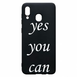 Etui na Samsung A20 Napis: Yes you can