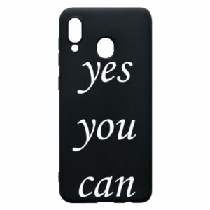 Etui na Samsung A30 Napis: Yes you can