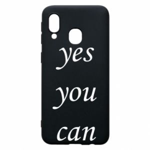 Etui na Samsung A40 Napis: Yes you can