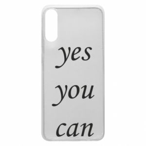 Etui na Samsung A70 Napis: Yes you can