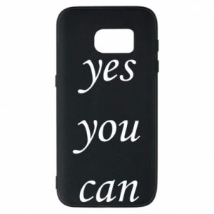Etui na Samsung S7 Napis: Yes you can