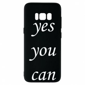 Etui na Samsung S8 Napis: Yes you can