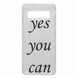 Etui na Samsung S10 Napis: Yes you can