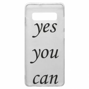 Etui na Samsung S10+ Napis: Yes you can