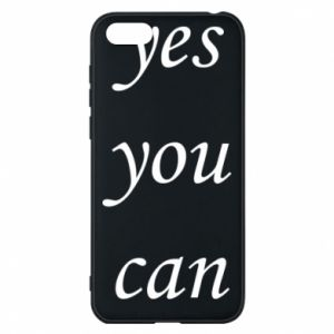 Etui na Huawei Y5 2018 Napis: Yes you can
