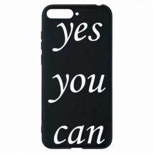 Etui na Huawei Y6 2018 Napis: Yes you can
