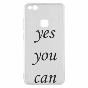 Etui na Huawei P10 Lite Napis: Yes you can