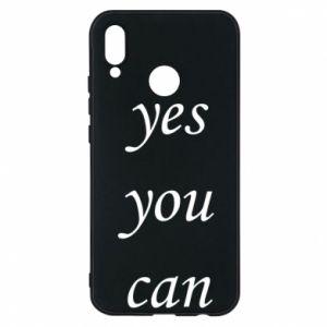 Etui na Huawei P20 Lite Napis: Yes you can