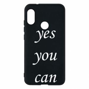 Etui na Mi A2 Lite Napis: Yes you can
