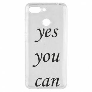 Etui na Xiaomi Redmi 6 Napis: Yes you can