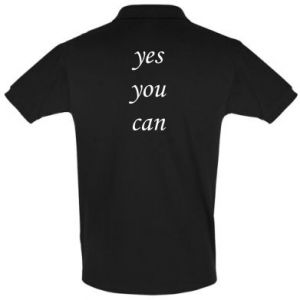 Koszulka Polo Napis: Yes you can