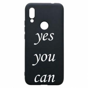 Etui na Xiaomi Redmi 7 Napis: Yes you can